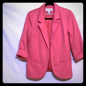 Pretty in Pink Casual Blazer